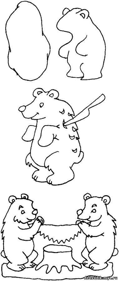 Как нарисовать богородскую игрушку поэтапно